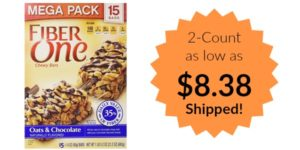 Fiber One Chewy Bars Oats and Chocolate, 30 Bars as low as $8.38 Shipped!