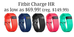 Fitbit Charge HR Fitness Tracker and Heart Rate Monitor as low as $69.99! (reg. $149.99)