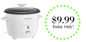 Insignia 2.6-Quart Rice Cooker $9.99 – Today Only!