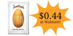 Walmart: Justin's Almond Butter Squeeze Pack Only $0.44!