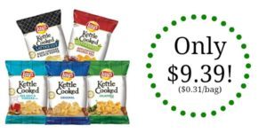 Lay's Kettle Chips Variety Pack, 30 Count Only $9.39! ($0.31/bag)