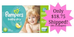 Pampers Baby Dry Diapers Only $0.15 per Diaper SHIPPED!