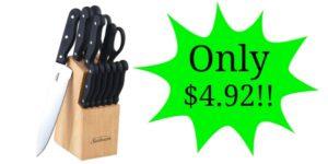 Sunbeam Westmont 13-Piece Cutlery Set Only $4.92!!