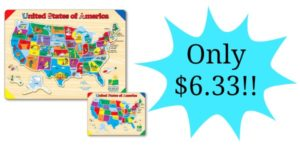 The Learning Journey Lift & Learn USA Map Puzzle Only $6.33!