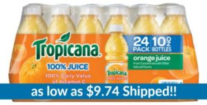 Tropicana Orange Juice, 10 Ounce (Pack of 24) as low as $9.74 Shipped!