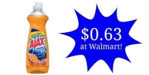 Walmart: Ajax Dish Liquid Only $0.63!