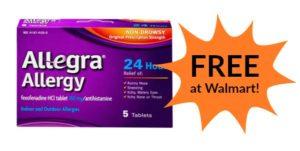 FREE Allegra Allergy at Walmart!