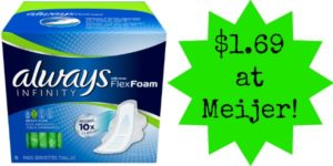 Meijer: Always Pads Only $1.69!