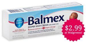 Walgreens: Balmex Diaper Rash Cream Only $2.99!