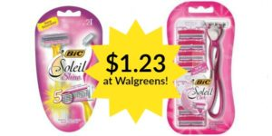 Walgreens: Bic Soleil Shine and Click Razors Only $1.23!
