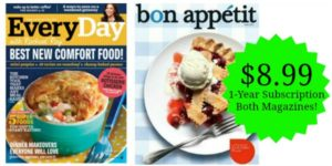 Bon Appetit AND Every Day with Rachael Ray Magazine Subscription Only $8.99 per Year!