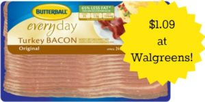 Walgreens: Butterball Turkey Bacon Only $1.09!