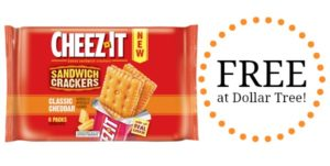FREE Cheez-It Sandwich Crackers at Dollar Tree!
