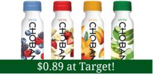 Target: Chobani Drink Only $0.89!