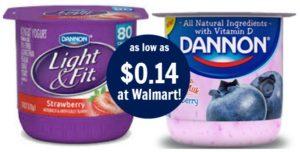 Walmart: Dannon Single Cup Yogurt as low as $0.14!