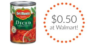 Walmart: Del Monte Canned Tomatoes Only $0.50!