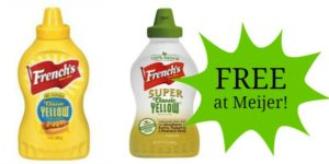 FREE French's Mustards at Meijer!