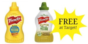 TWO French's Mustard FREE + $1 Money Maker at Target!
