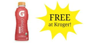 FREE Gatorade G Organic Bottle at Kroger!