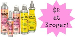 Kroger: got2b Hair Stylers Only $2!