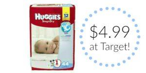 Target: Huggies Jumbo Pack Diapers Only $4.99!!