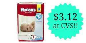 CVS: Huggies Diapers Jumbo Packs Only $3.12!