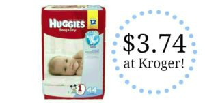 Huggies Snug and Dry Diapers Only $3.74 at Kroger!