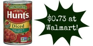 Walmart: Hunt's Tomatoes Only $0.73!