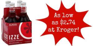 Kroger: Izze Drinks 4-Packs as low as $2.74!