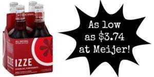 Meijer: Izze Drink 4-Packs as low as $3.74!