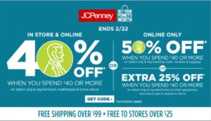 JCPenney Sale – up to 50% OFF Your Purchase!