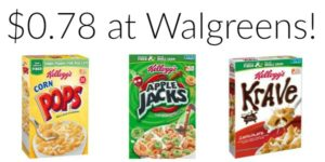 Walgreens: Kellogg's Cereals Only $0.78!