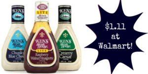 Walmart: Ken's Salad Dressing Only $1.11!