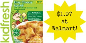 Walmart: Kidfresh Frozen Meals Only $1.97!