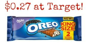 Target: Milka Oreo King Size Candy Bars Only $0.27!