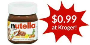 Kroger: Nutella Hazelnut Spread Only $0.99!