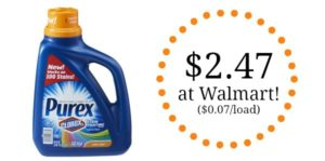 Walmart: Purex with Clorox 2 Liquid Laundry Detergent Only $2.47! ($0.07/load)