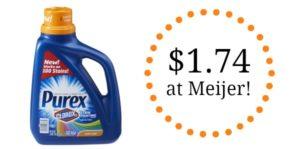 Meijer: Purex Liquid Laundry Detergent Only $1.74!