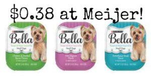 Meijer: Purina Bella Dog Food Only $0.38!
