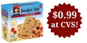 CVS: Quaker Breakfast Flats Only $0.99!