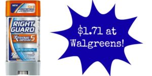 Walgreens: Right Guard Xtreme Deodorant Only $1.71!