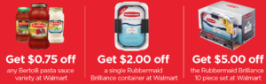 Rubbermaid Brilliance Ibotta Offer at Walmart! Pair with Bertolli Sauces!