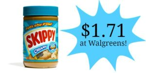 Walgreens: Skippy Peanut Butter Only $1.71!
