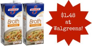Walgreens: Swanson Broth Only $1.48!