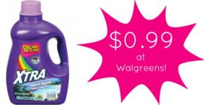 Walgreens: Xtra Laundry Detergent Only $0.99!