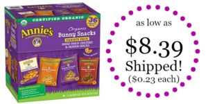 Annie's Organic Variety Pack 36-Count as low as $8.39 Shipped! ($0.23 each)