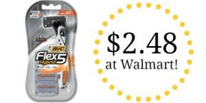 Walmart: BIC Flex 5 Men's 5 Blade Disposable Razors Only $2.48!