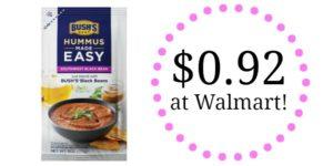 Walmart: Bush's Hummus Made Easy Only $0.92!