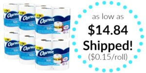 Charmin Ultra Soft Toilet Paper 24 Mega Rolls as low as $14.84 Shipped! ($0.15/roll)