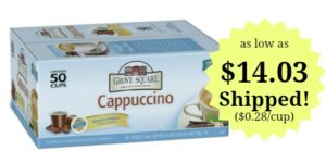Grove Square Cappuccino, French Vanilla, 50 Single Serve Cups as low as $14.03 Shipped! ($0.28/cup)